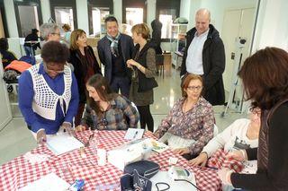 Visita del Teniente de Alcalde en el curso de Atención sociosanitaria a personas dependientes en el domicilio