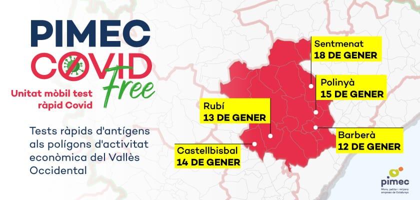 PIMEC y el Consell Comarcal llevan los tests de antígenos a los polígonos industriales del Vallès